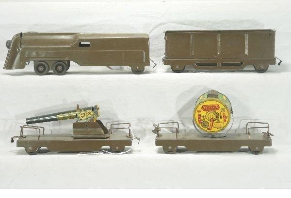 294: NETTE - SCARCE MARX Military Floor Train Set: