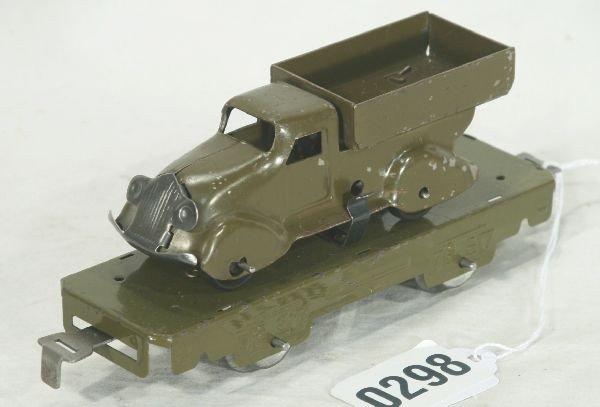 298: NETTE - Scarce MARX Flat w/Military Truck: