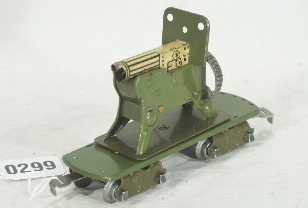 299: NETTE - MARX 8-Wheel Military Machine Gun Car: