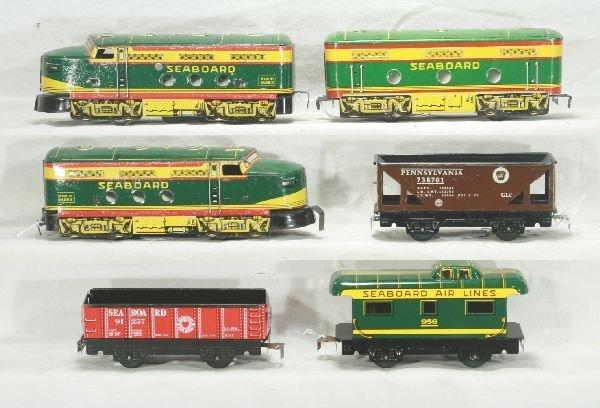 302: NETTE - MARX 6pc. SEABOARD Diesel Set: