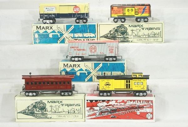 303: NETTE - 5 Boxed Modern MARX Cars: