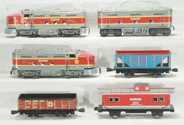 306: NETTE - 6 Pc. MARX Monon ABA Diesel Set: