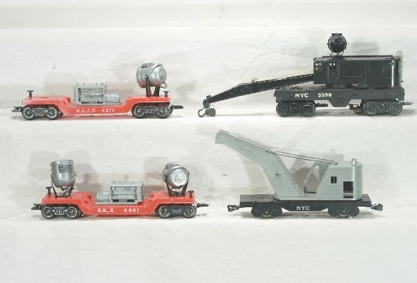 309: NETTE - 4 Deluxe MARX Freight Cars: