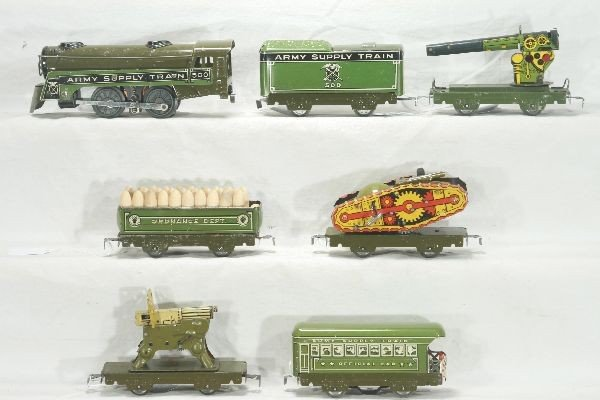 311: NETTE - 7 Pc. Early MARX Military Set:
