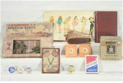 767: NETTE - 12 Pc. WWII Toy & Ephemera Lot: