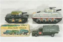 786: NETTE - 3 MARX Military Toys: