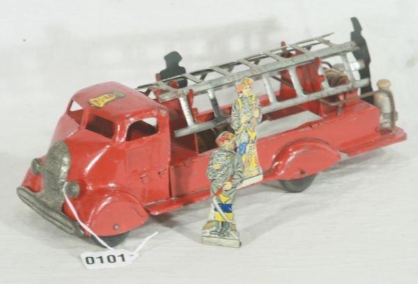 832: NETTE - Early MARX Fire Ladder Truck: