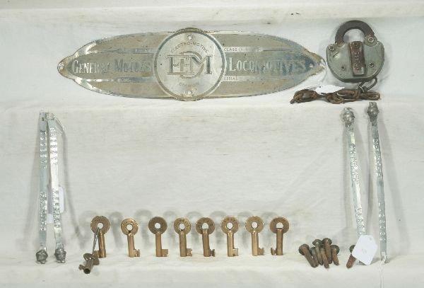 6: NETTE - RR Locks, Plate & Misc. Lot: