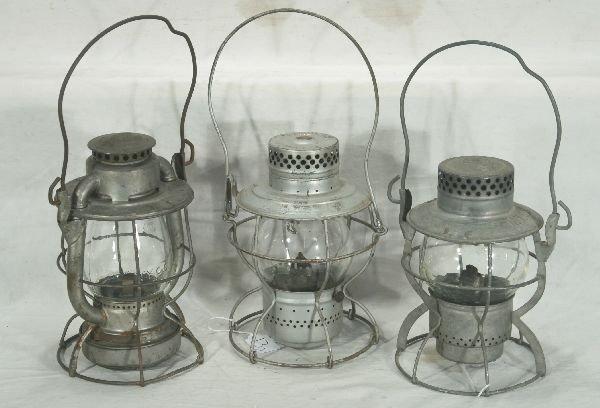 13: NETTE - 3 NYCS RR Lanterns: