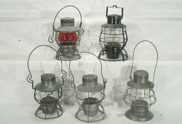 17: NETTE - 5 NYC RR Lanterns: