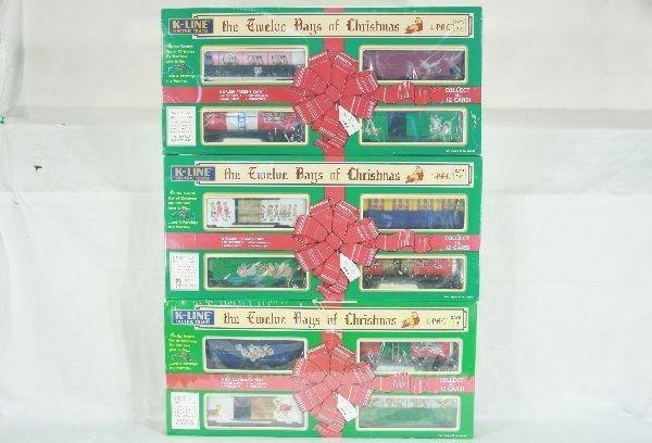 2: 3 K-Line 12 days of Christmas 4 Packs Lot