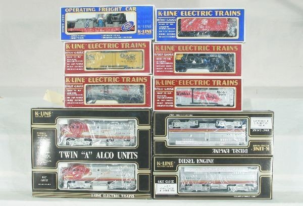 12: 9 pc K-Line Freight Train Lot