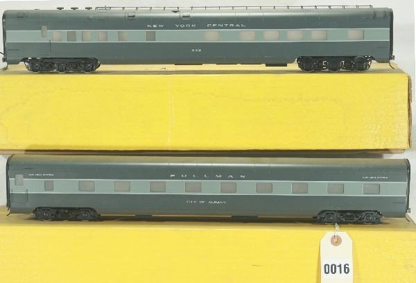 16: 2 Sunset Brass O Scale NYC Passenger Cars Lot