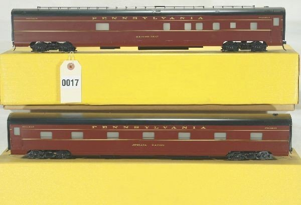 17: 2 Sunset Brass O Scale PRR Passenger Cars Lot