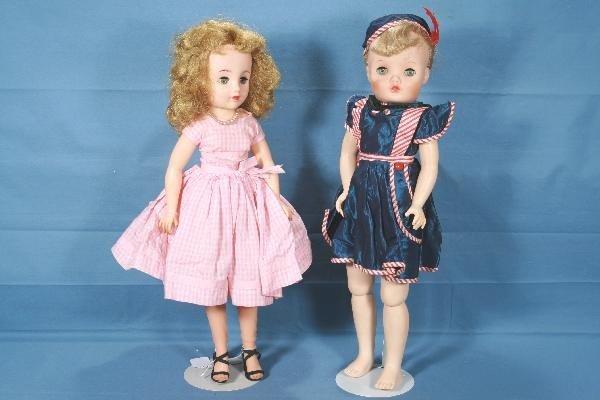 8:  2, 20 Inch 1950s Dolls