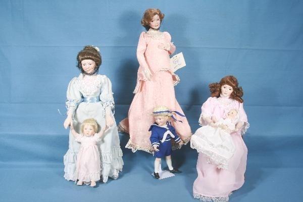 18: 3 Boxed RECO Porcelain Doll Sets