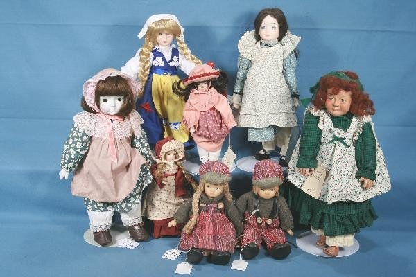 19: 8 Pc. Nice Quality Modern Doll Lot