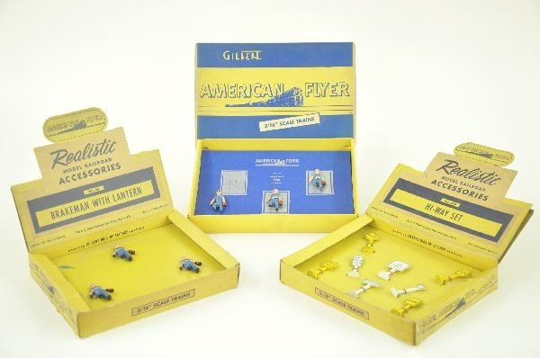 2: American Flyer S Gauge 30A & Two 35 Accessory Sets