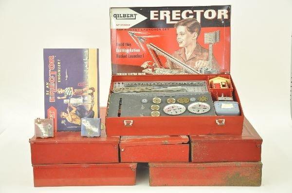 11: A.C. Gilbert Erector Boxes & Parts