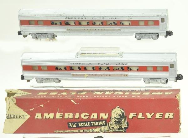 15: 2 American Flyer S Gauge Passenger Cars