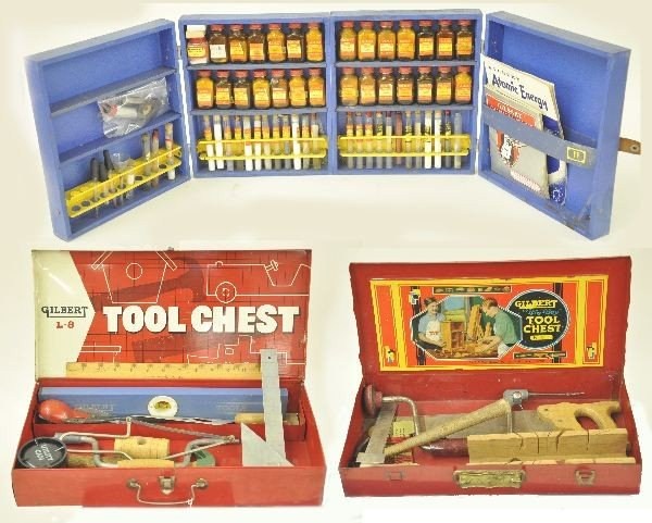 22: 4 Boxed  A.C. Gilbert Toys