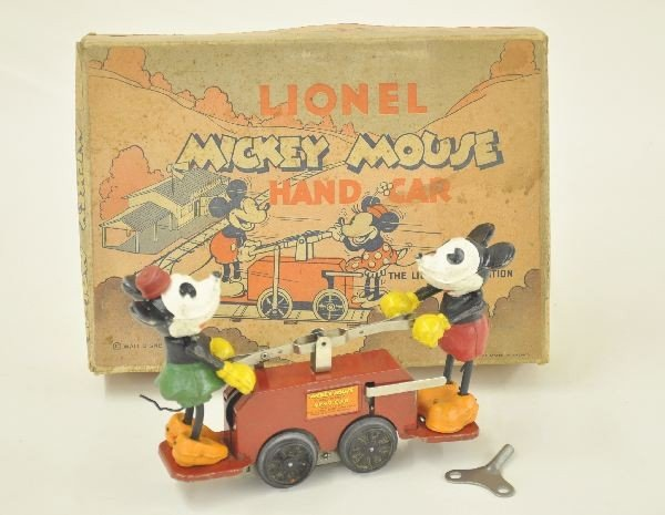 73: Boxed Lionel 1100 Mickey Mouse Handcar