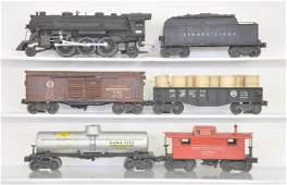 117: 6 Pc. Early Lionel 224 Freight Set