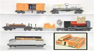 339: 6 Boxed Lionel Freight Cars