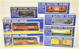 537: 7 Pc. Boxed K-Line TCA Diesel Train Set
