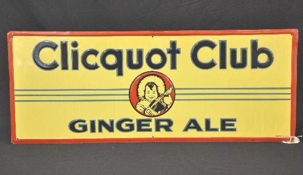 5: Tin Clicquot Club Soda Sign
