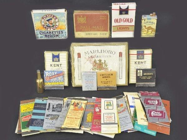 7: Group of Vintage Cigarette Items & Matchbooks