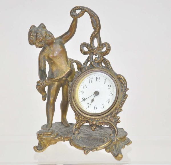 11: Early Victorian Figural Clock