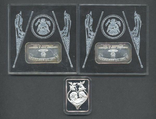 18: Three 1 oz Silver Bars
