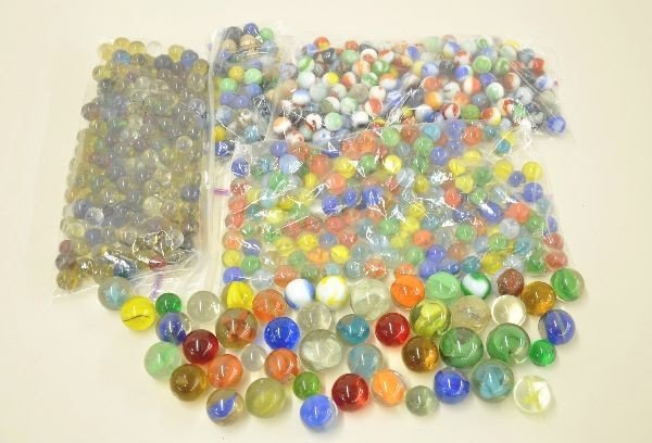 2: Large Group of Glass Marbles
