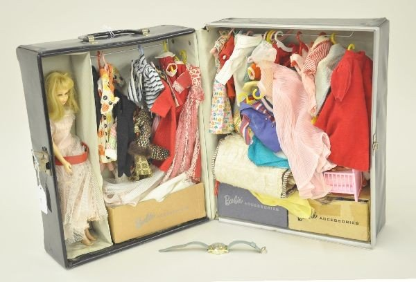 3: Barbie Doll With Case and Wrist Watch