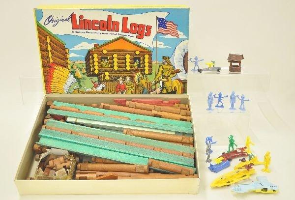 5: Lincoln Log and Play Set Figure Lot