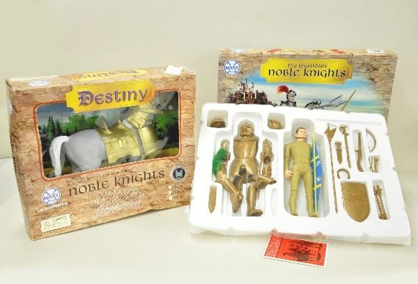 8: Two Piece Marx Toys Noble Knights Play Sets