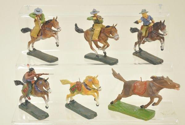 12: 10 pc Elastolin Cowboy and Indian Lot