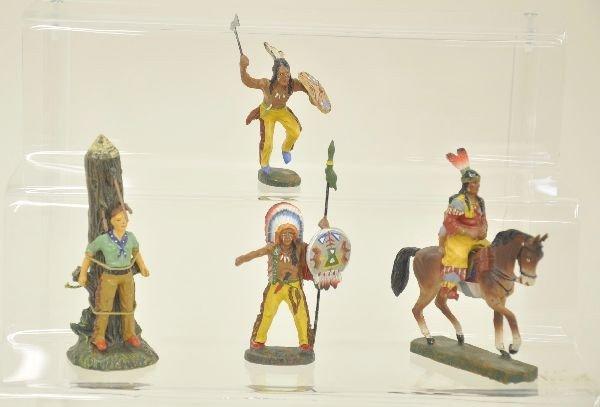 14: 4 Elastolin Cowboys and Indians