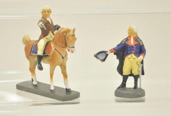 16: 3 pc Elastolin George Washington Figure Lot