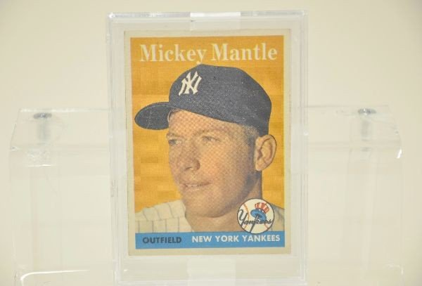 605: 1958 Topps Mickey Mantle Card