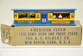 103: Boxed American Flyer 270 Frank and News Stand