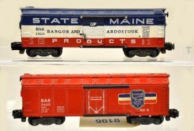 106: American Flyer S-Gauge 24029 and 24425 Freight Car