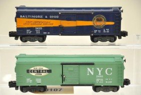 107: American Flyer S-Gauge 24023 and 24065 Boxcars