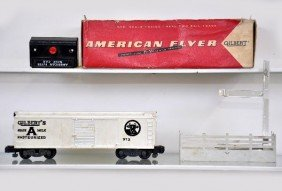 121: Boxed American Flyer S-Gauge 973 Milk Car