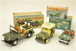 573 Boxed Tin Jeep Toys
