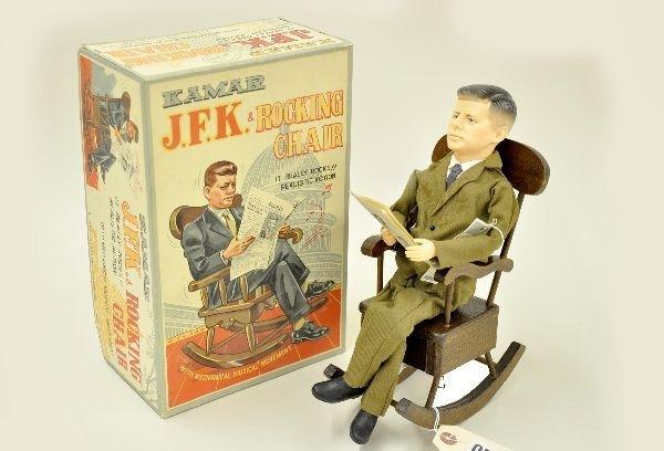 596: Scarce Boxed Kamar JFK in Rocking Chair
