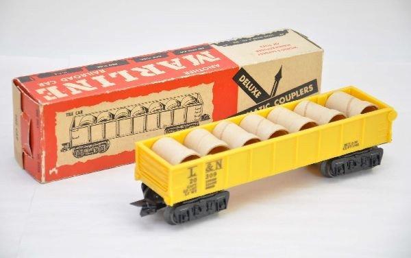 12: Scarce Boxed Marx Yellow L&N Tile Car