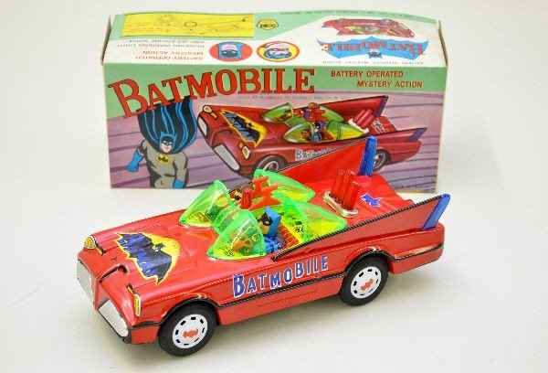 201: Boxed Batmobile Battery Toy