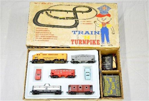 687: Boxed Marx HO Train n Turnpike Set